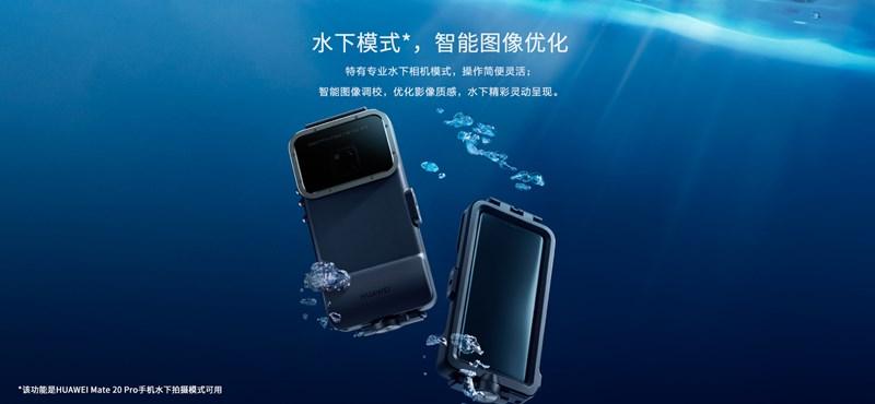 48ea0db9b1b6 Spéci tok jött a Huawei mobiljához: aki felteszi, 5 méterrel a víz alatt is