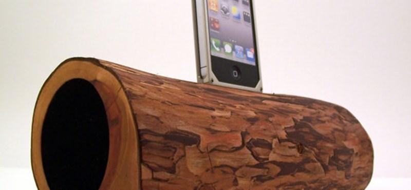 Látott már ilyet? Fából készült iPod-/iPad-/iPhone-dokkolók