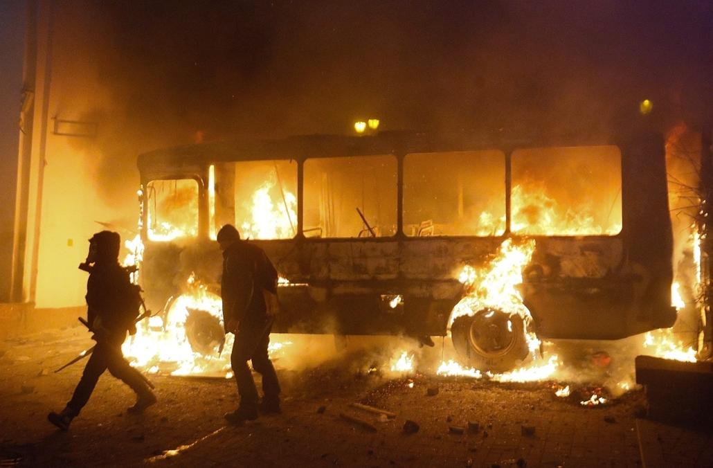 epa.  2014.01.19-20. ukrajna tüntetés zavargás, Kijev, Klicsko, EU-tüntetés