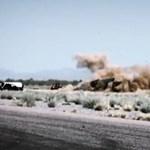 Lezuhant a Corvette-tel versengő helikopter - videó