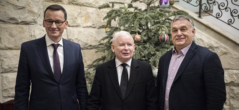 Orbán Kaczynskivel tárgyalt Varsóban