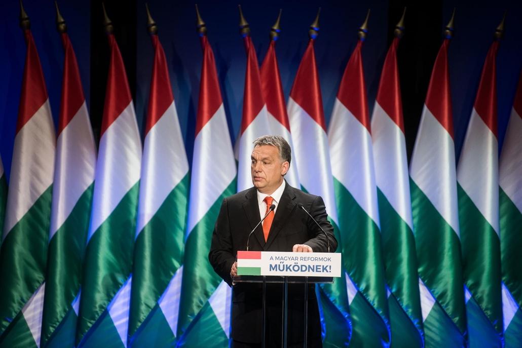 sa.11.02.07. Orbán Viktor miniszterelnök évértékelő beszédet tart a Millenáris Parkban 2011. február 7.