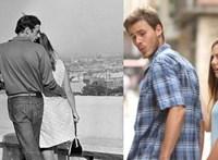 Egy férfi, két nő, egy fotó, egy mém – nincs új a nap alatt
