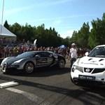 Videó: Majdnem lenyomta egy Nissan Juke a Bugatti Veyront
