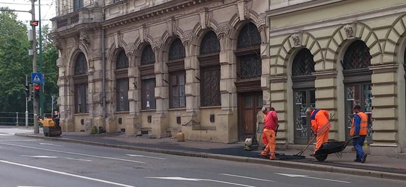 Szegeden célt ért a Kétfarkú: kijavították a festett járdákat - fotók