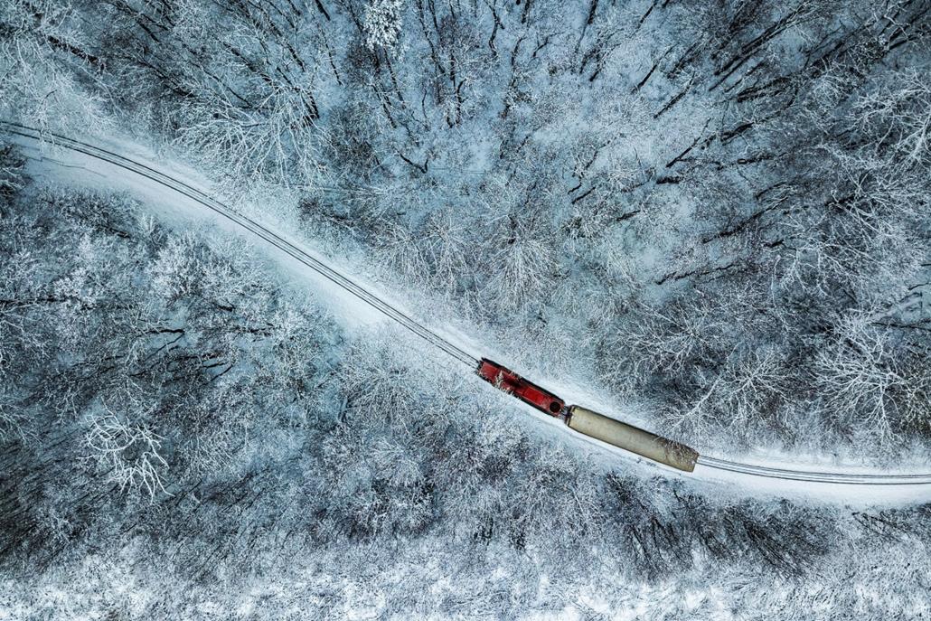 e! - drónfotópályázat Gyermekvasút a Hűvösvölgyben