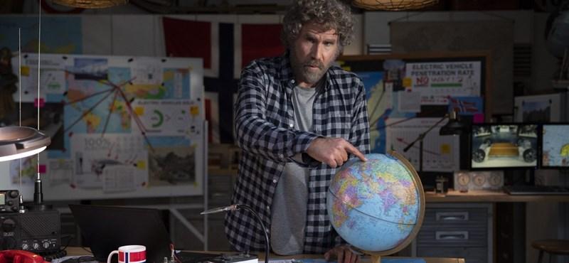 Will Ferrell elektromos autóval rohanja le Norvégiát