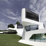 Lenyűgöző futurisztikus épület: fantasztikus német villa