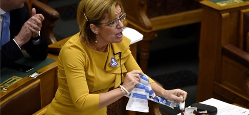 Széttépte a konzultációs ívet egy MSZP-s képviselő a parlamenti ülésteremben – videó