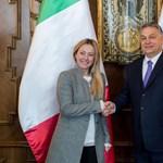 Fogadta az Olasz Testvérek vezetőjét Orbán