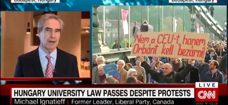 """CEU-rektor a CNN-en: """"Túszul ejtett bennünket a kormány"""""""