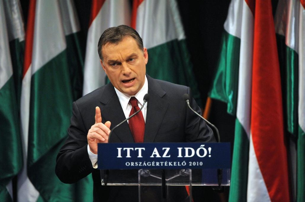 10.02.05. Orbán Viktor, a Fidesz elnöke tartja hagyományos országértékelő évértékelő  beszédét a budapesti Millenáris Park Teátrumban