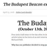 Újabb lap szűnik meg: vége a Budapest Beaconnek
