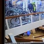 Döbbenetes betörést vett fel egy holland biciklibolt kamerája – videó