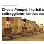 Hírünk a világban: magyar turisták pózoltak a pompeji romokon