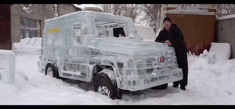 Naná, hogy orosz iparmunka eredménye ez a jégből készült terepjáró – videó