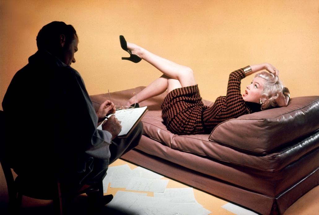 afp.1953. - A ''Szőkék előnyben'' című film forgatásán 1953-ban. - Marilyn Monroe nagyítás