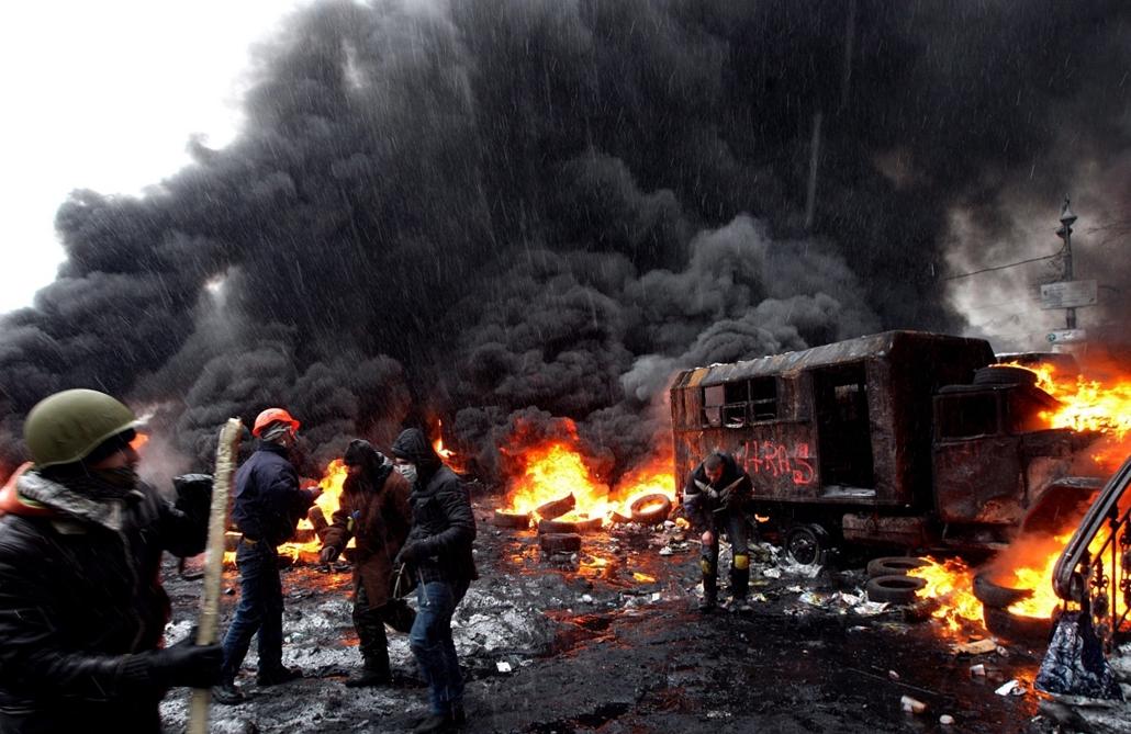 epa.14.01.22. - Kijev, Ukrajna: tüntetések - Ukrán tüntetések