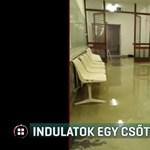 Szennyvíz árasztotta el a Merényi Kórház sürgősségijét