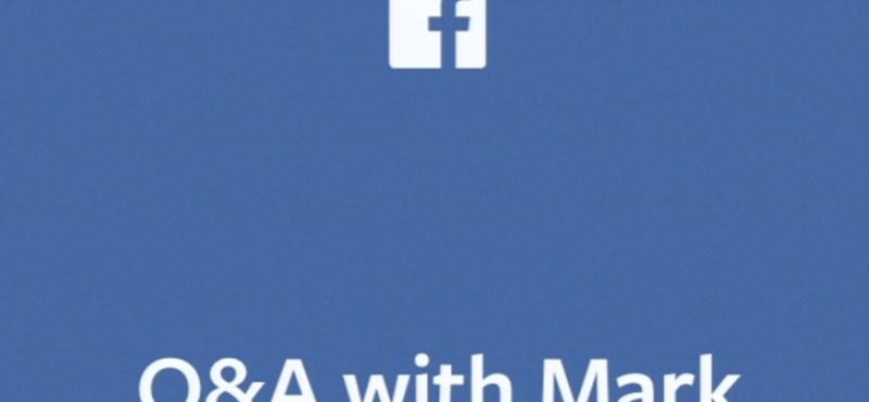 Nézze élőben: Mark Zuckerberg most válaszol a Facebook-felhasználók kérdéseire