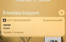 Furcsa jelzéseket küldött ki a mobilokra az egyik magyar taxitársaság
