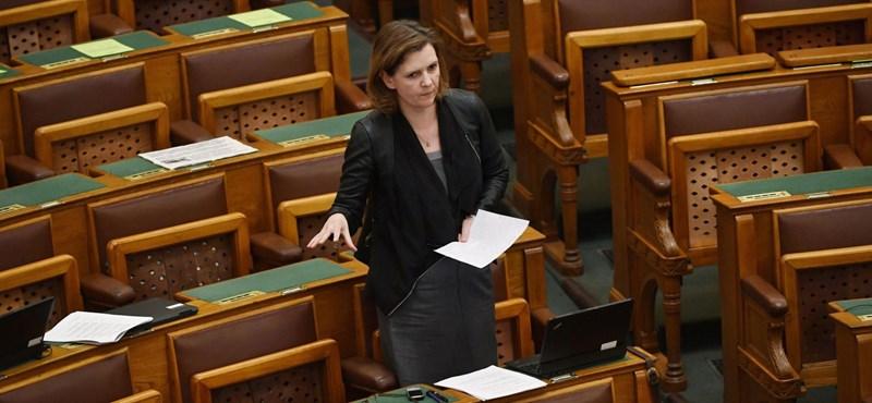 Kommunistázva lépett ki a Jobbikból Hegedűs Lorántné