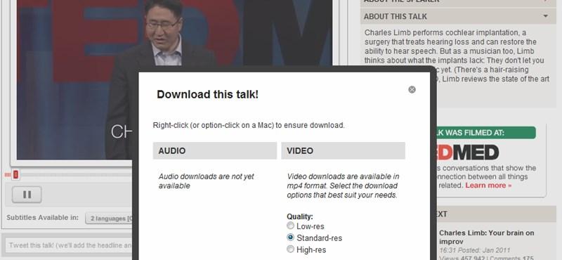TED-videók letöltése gyorsan és egyszerűen