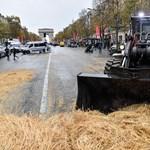 Több száz traktor torlaszolta el Párizsban az utakat