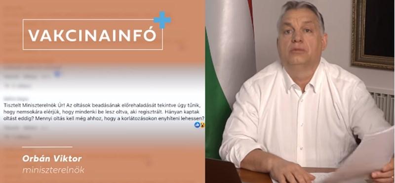 Orbán: Május elejére több mint 4 és félmillió ember lesz beoltva Magyarországon