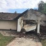 Kiégett ház, leszakadt redőny, betört ablakok: a volt férj meghalt, a nő túlélte – fotók