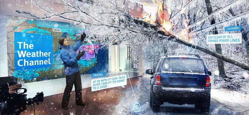Elképed majd, ha meglátja, milyen lesz az időjárás-jelentés egy amerikai csatornánál