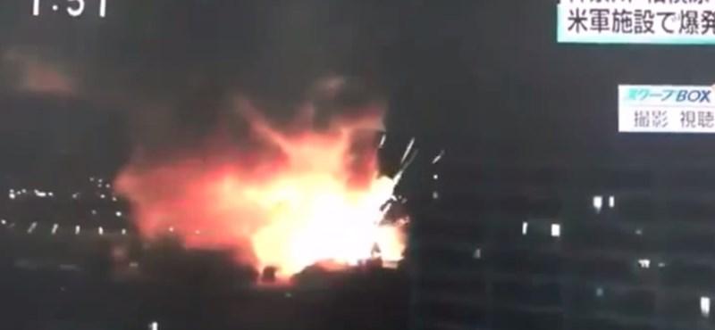 Felrobbant egy amerikai katonai raktár Japánban