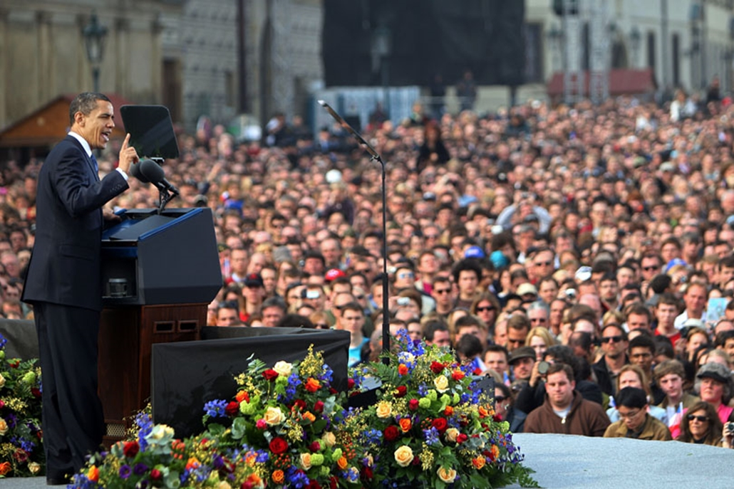 Barack Obama Prágában tartotta meg elnökké választása óta az első, Egyesült Államokon kívüli, beszédét.