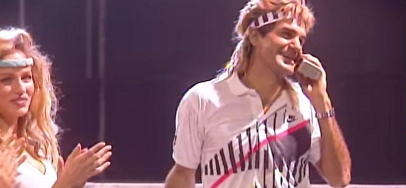 Roger Federer mekkora színész már - videó