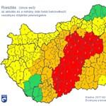 A helyzet továbbra is súlyos - itt a legfrissebb riasztási térkép
