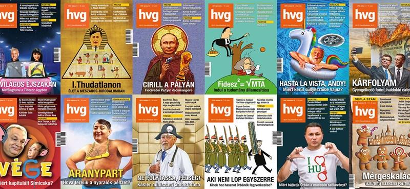 Ez lett 2018 legütősebb HVG-címlapja