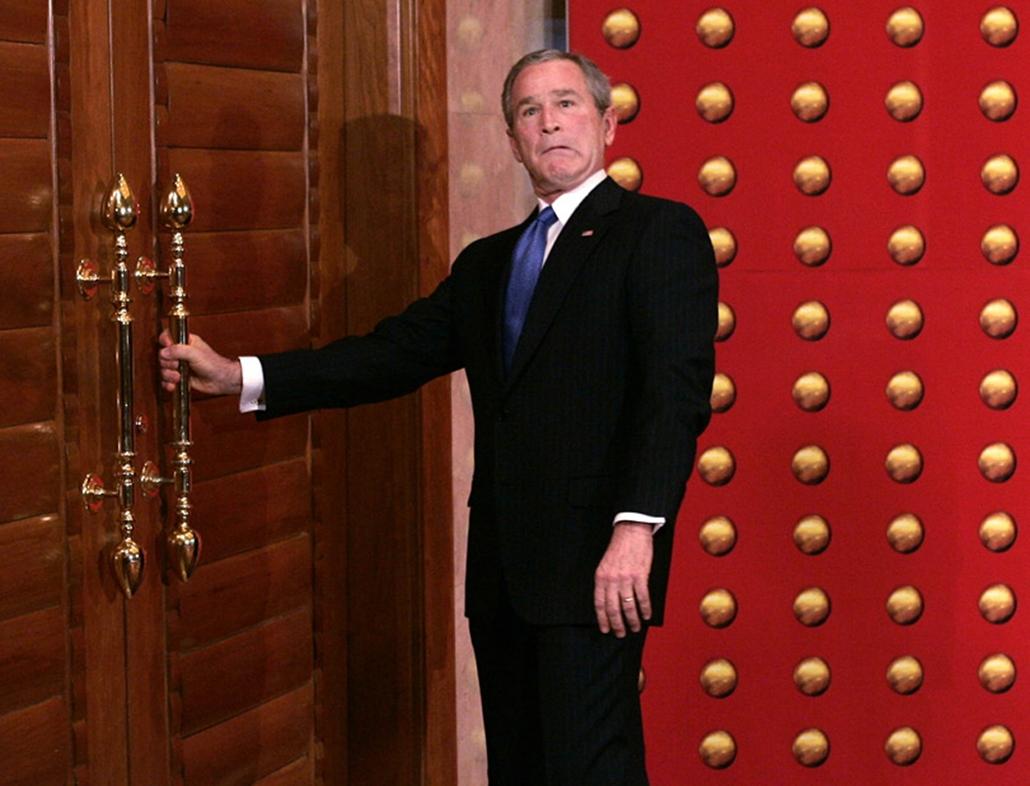 George W. Bush amerikai elnök Pekingben.