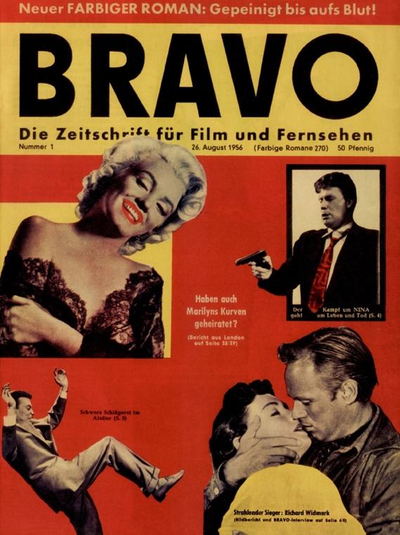 afp.1956.08.26. - A Bravo magazin címlapján 1956. augusztusában. - Marilyn Monroe nagyítás