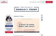 Egy nappal a Facebook döntése előtt saját oldalt indított Donald Trump