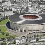 A tető egy része fent van már a méregdrága Puskás-stadionon