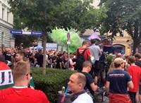 Így vonultak a magyar szurkolók Münchenben