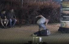 Durva verekedést rögzített egy térfigyelő kamera Zuglóban - videó