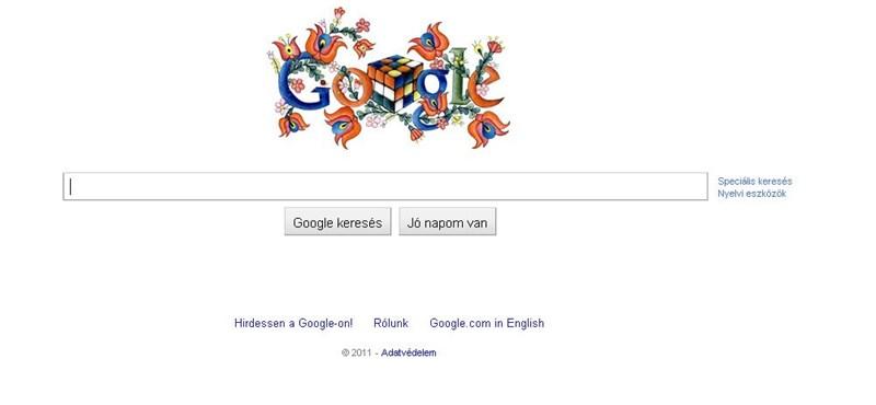Nézd meg a Google mai logóját: különleges doodle Rubik-kockával és matyó hímzéssel