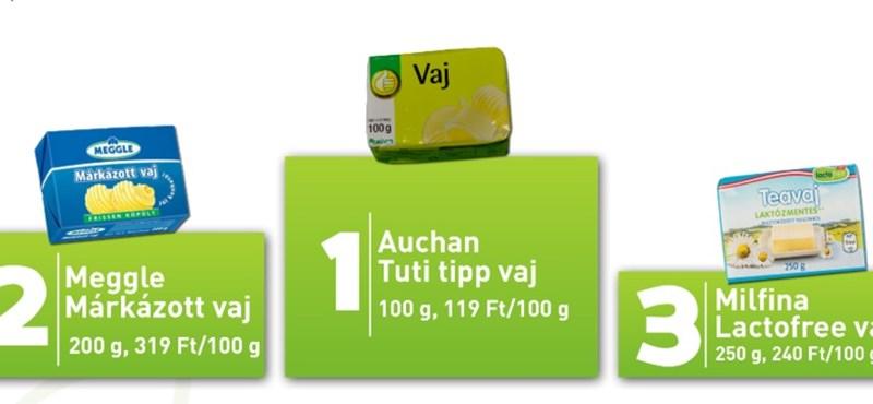 Tarolt az Auchan az állami vajtoplistán