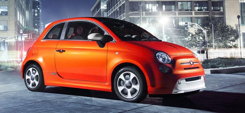 Fotókon az elektromos Fiat 500-as