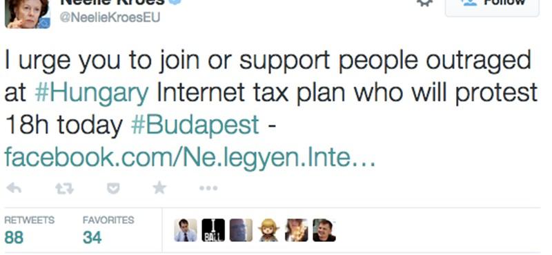 Élesen bírálták az internetadót Brüsszelben
