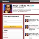 Mindenki Chávez Twitter-oldalát nézegeti