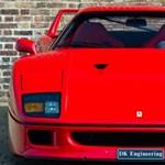 A búcsúkörén törte össze a tulaj a százmilliókat érő Ferrari F40-esét