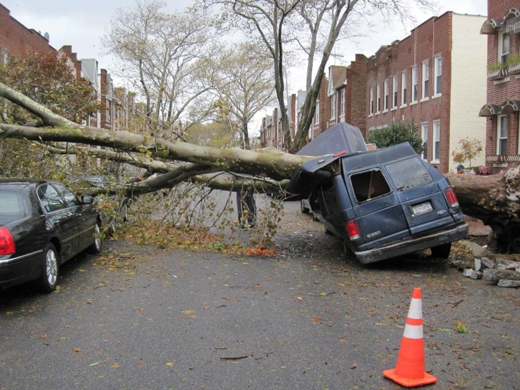 Brooklyn a Sandy hurrikán után