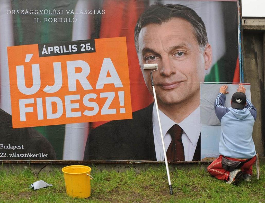 Választási plakát, Orbán